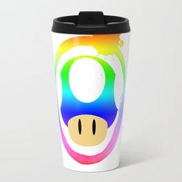 Rainbow Mushroom Travel Mug