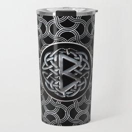 Berkana Rune  Mettallic Embossed Travel Mug