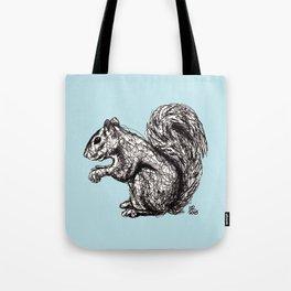 Blue Woodland Creatures - Squirrel Tote Bag