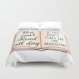 Read all day Duvet Cover