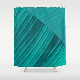 Banana Leaf Abstract Shower Curtain