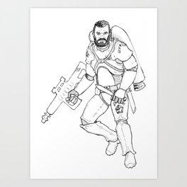 Space Mercenary Art Print