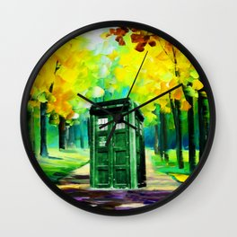 PAINTING TARDIS Wall Clock