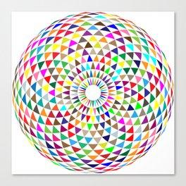 Multicolored Mandala Canvas Print