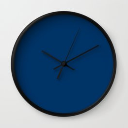 Dark Midnight Blue - solid color Wall Clock