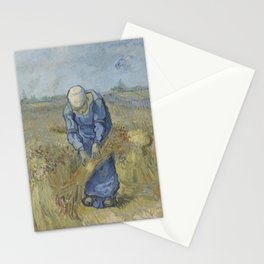Vincent van Gogh - Peasant Woman Binding Sheaves (after Millet) Stationery Cards