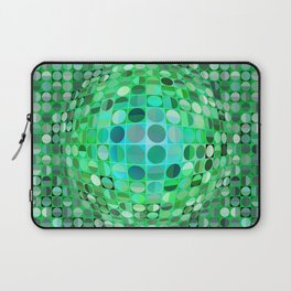 Optical Illusion Sphere - Green Laptop Sleeve
