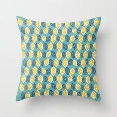 Honeydrop Leaves Throw Pillow