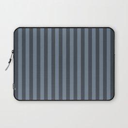 Slate Grey Stripes Pattern Laptop Sleeve