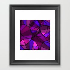 Colorful purple and blue pattern . Framed Art Print