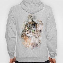 Duchess Watercolor Cat Hoody