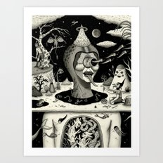 Imminent Disruption of a Nightly Ritual Art Print