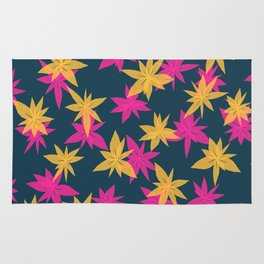 Abstract Pink Flowers Rug