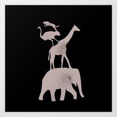 Animal Stack Art Print