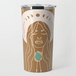 Desert Angel in Camel & Turquoise Travel Mug