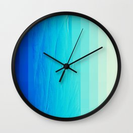 Blue Buffer Wall Clock