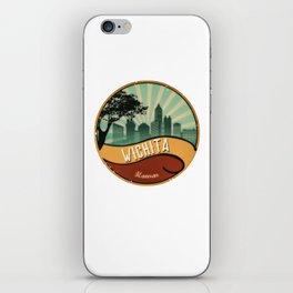 Wichita City Skyline Kansas Retro Vintage Design iPhone Skin