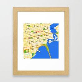 Map of Pensacola, FL - East Hill Christian School Framed Art Print