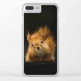 squirrel in the dark Clear iPhone Case