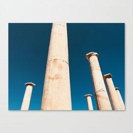 The columns of Delos Canvas Print
