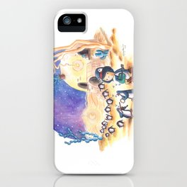 PenguinGirl and her Music Maker Penguins Bring Love, Laughter and Light in the Desert iPhone Case