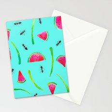Aqua Ants Stationery Cards