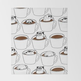 More Coffee Pug Throw Blanket