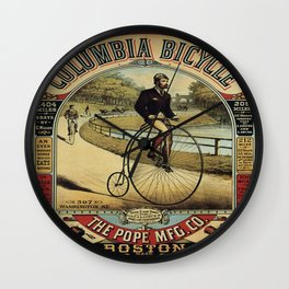 Vintage poster - Columbia Bicycle Wall Clock