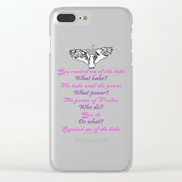 Labyrinth Remind Me of the Babe Clear iPhone Case