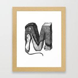 M - Animal Alphabet Framed Art Print