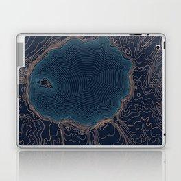 Crater Lake Topo Laptop & iPad Skin