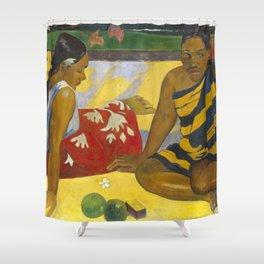 Parau Api / What's news? by Paul Gauguin Shower Curtain