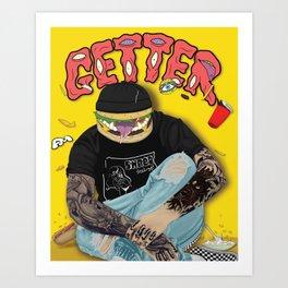 Getter burger head Art Print