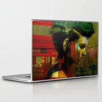 british Laptop & iPad Skins featuring Under a British rain by Ganech joe