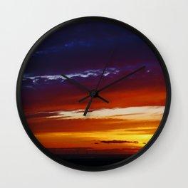 Liverpool Bay at sunset Wall Clock
