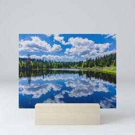 The lake Etang des Royes in the canton of Jura in Switzerland Mini Art Print