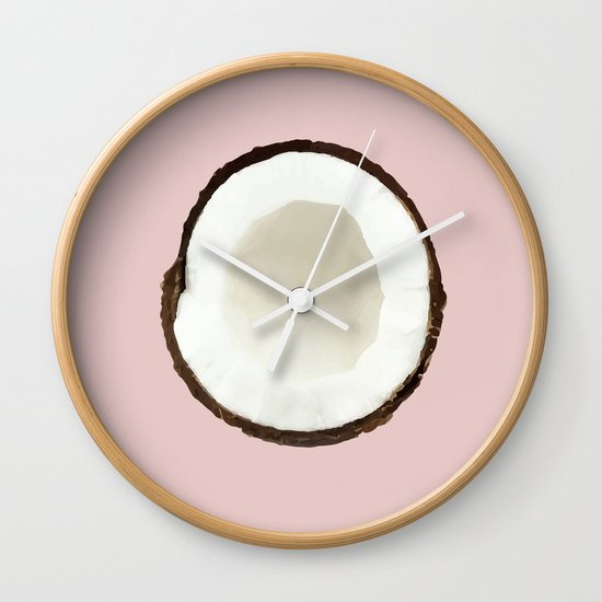 Pink coconut Wall Clock