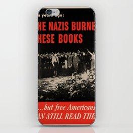 Vintage poster - Burned Books iPhone Skin