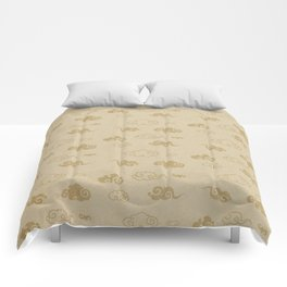 Neutral Asian Style Cloud Pattern Comforters