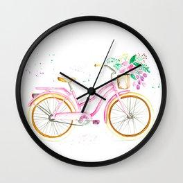 Pink Bike Vintage Wall Clock
