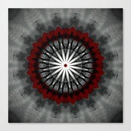 RubyRed and Silver Mandala Canvas Print