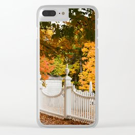 Vermont Fall Clear iPhone Case
