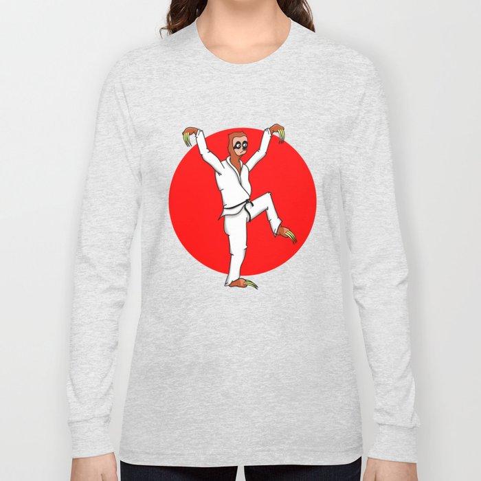 Sloth Karate Long Sleeve T-shirt