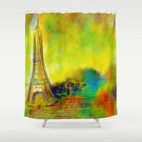 eiffel Shower Curtains featuring Eiffel by Alexandre Reis