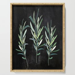 Eucalyptus Branches On Chalkboard Serving Tray