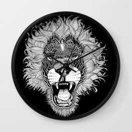 LION-HEAD Wall Clock