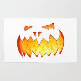Scary Halloween Pumpkin Rug