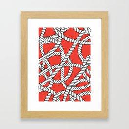 Red Rope Pattern Framed Art Print
