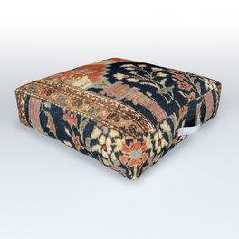 Kashan Poshti  Antique Central Persian Rug Print Outdoor Floor Cushion