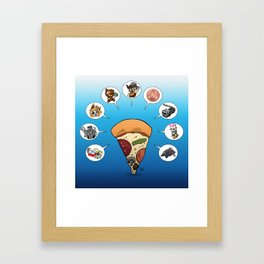 Slicey Talk Framed Art Print